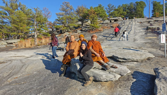 Wai Ask Why? Buddhist Monks at Stone Mountain