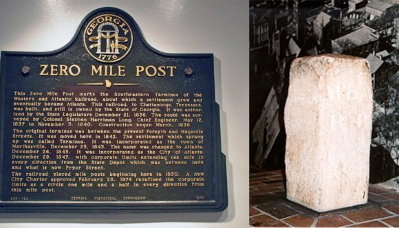 Atlanta's Zero Mile Post At 180 Years
