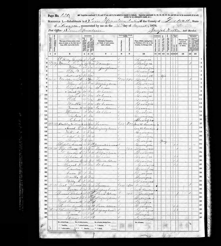 STM-1870-Census-Augustus Gholston + Veal Family