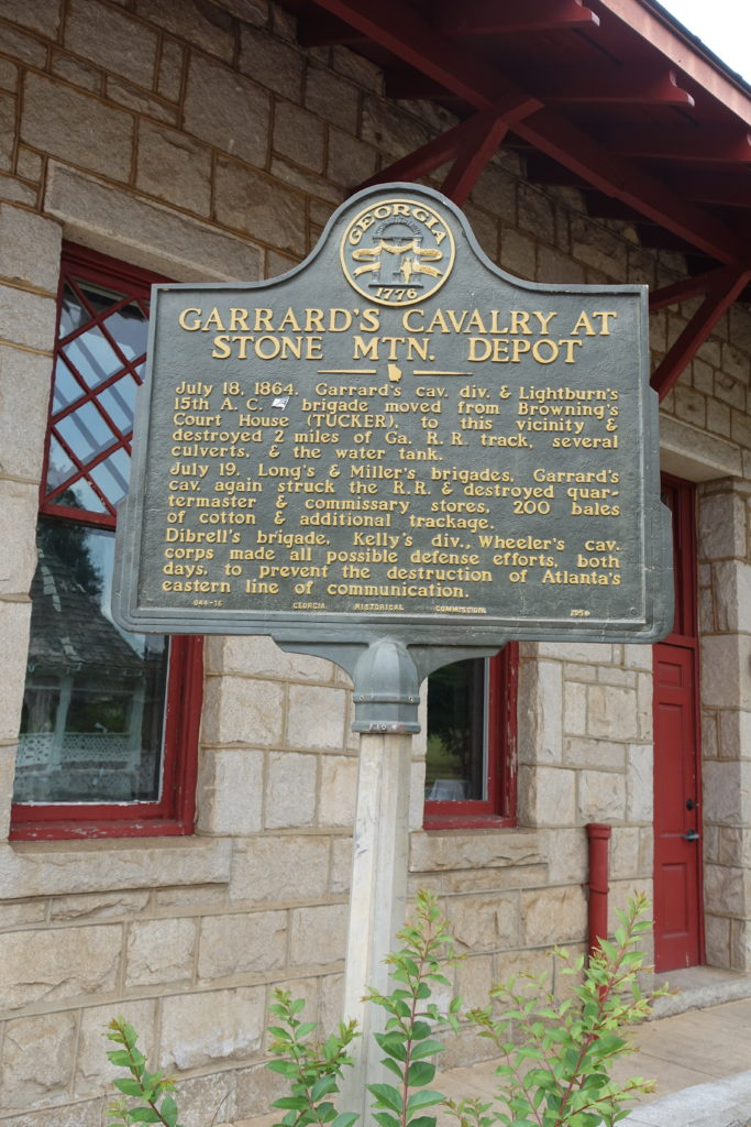 Garrard's Cavalry marker in Stone Mountain Village