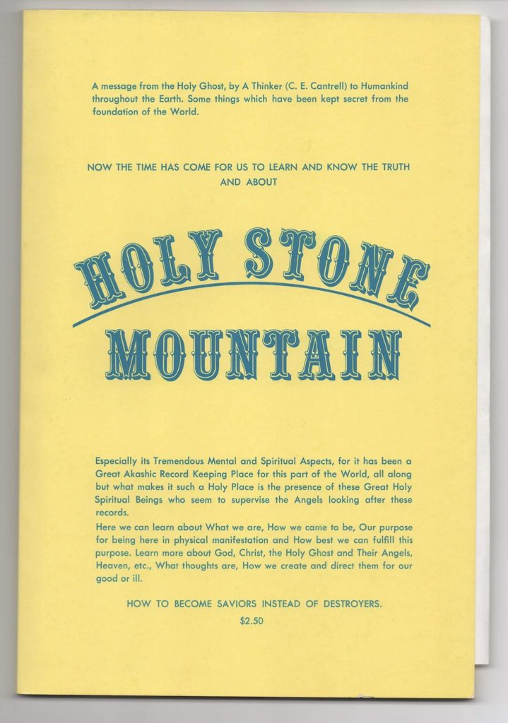 Holy Stone Mountain by C.E. Cantrell (1975)