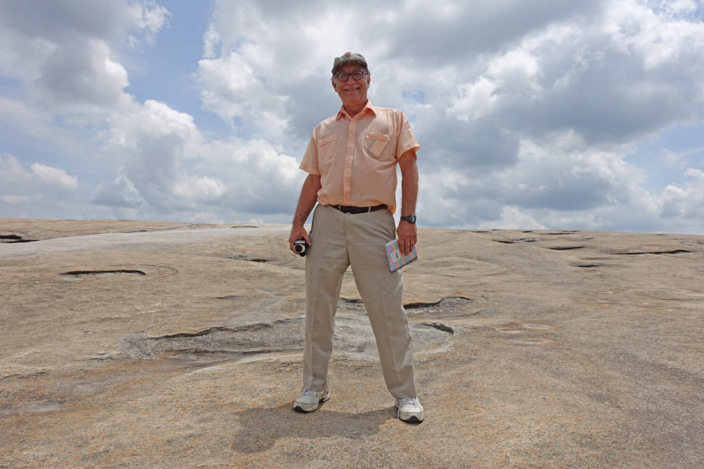 Mark Pendergrast at the top of Stone Mountain