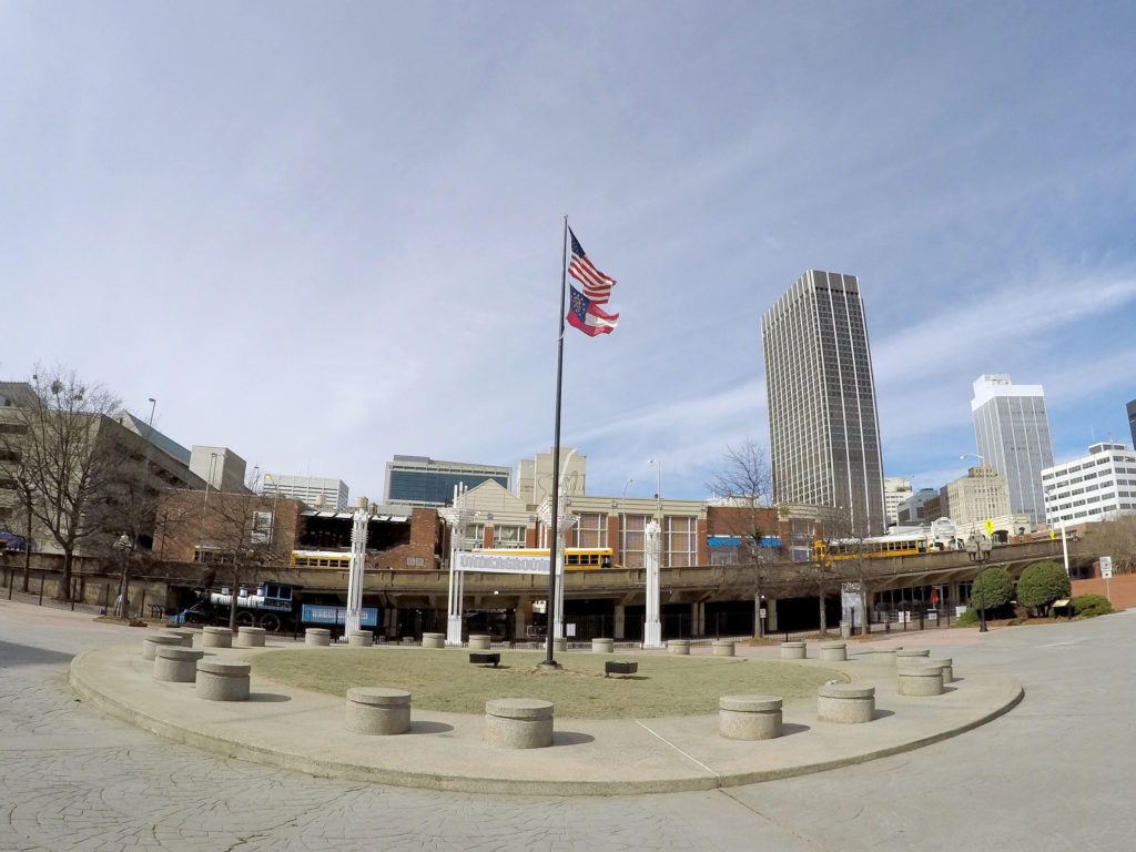 Underground Atlanta features granite in numerous places