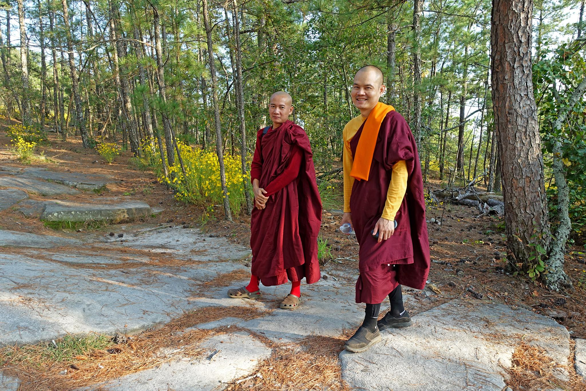 Local Buddhist monks from Chin State, Myanmar 9-22-17