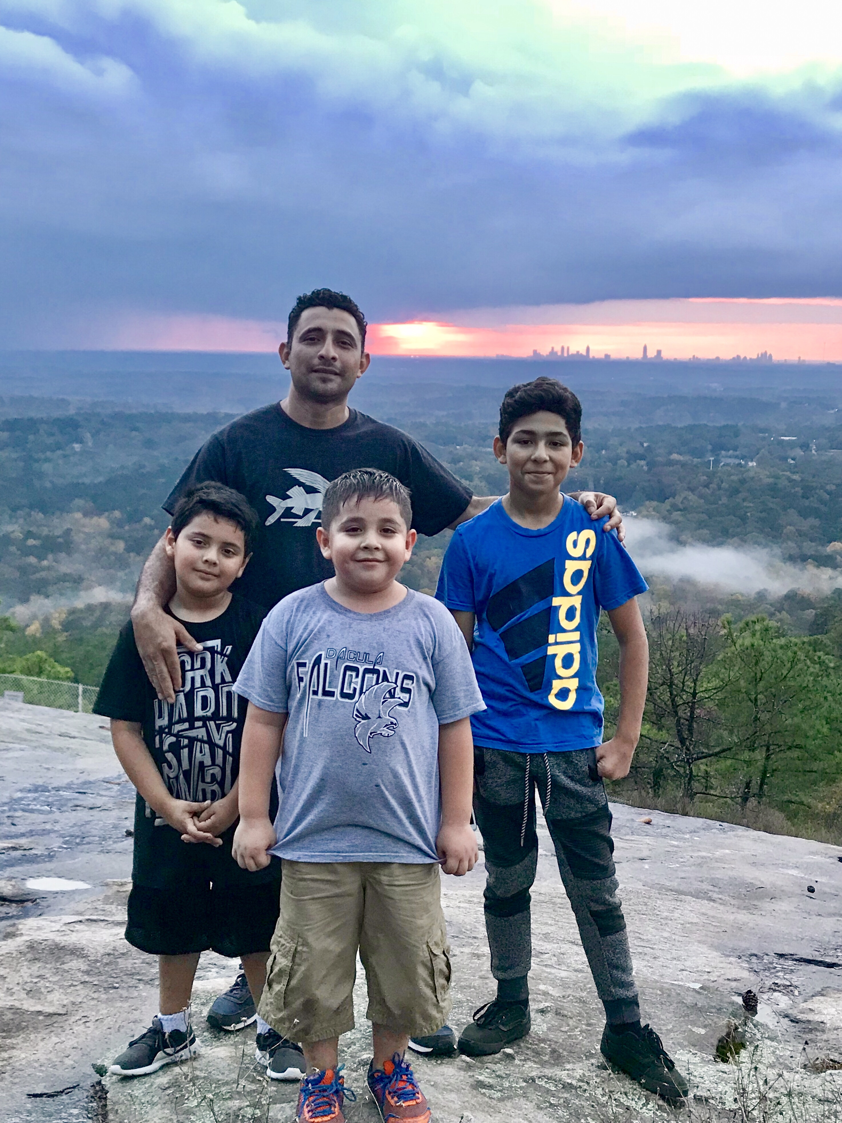 Angel and his sons (and nephew), originally from El Salvador, live nearby in Snellville. 🇸🇻