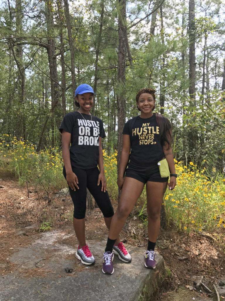 Ashia, 23, of Snellville, GA (My Hustle Never Stops) and her cousin Alvia, 14, of Jackson, MS (Hustle Or Be Broke) 9-16-17