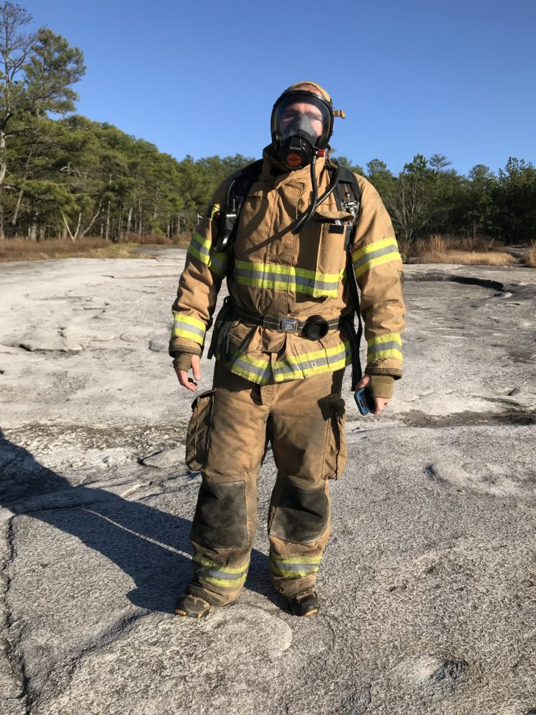 Firefighters often take to the mountain to stay conditioned. 11-13-17