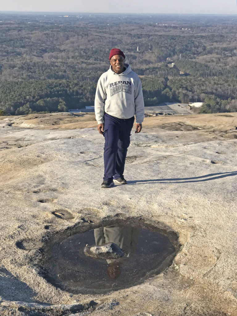 Mountain regular, Ivan Franklin, hikes Stone Mountain just about every day of the year. 1-15-18