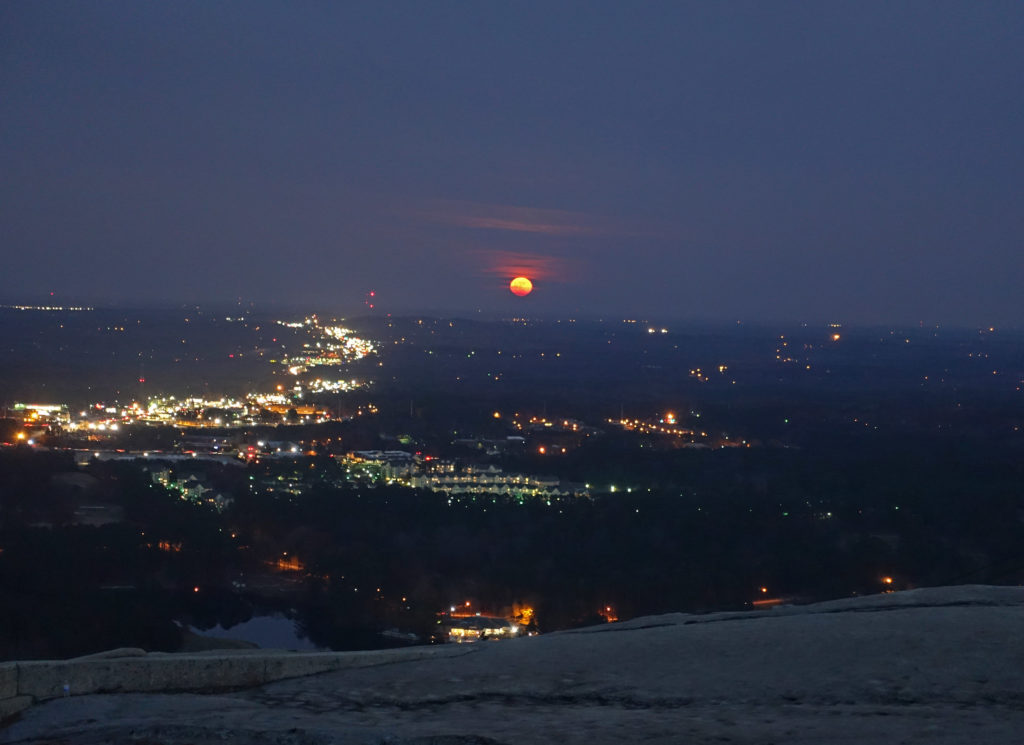 Full Cold Moon on Stone Mountain 12-03-17
