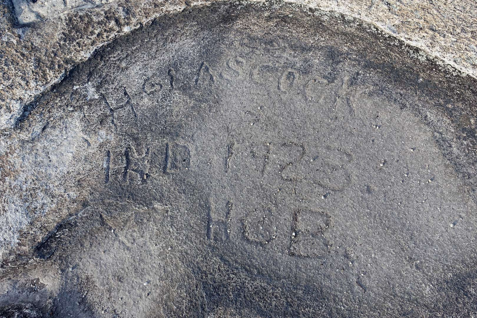 1923 carving on Stone Mountain