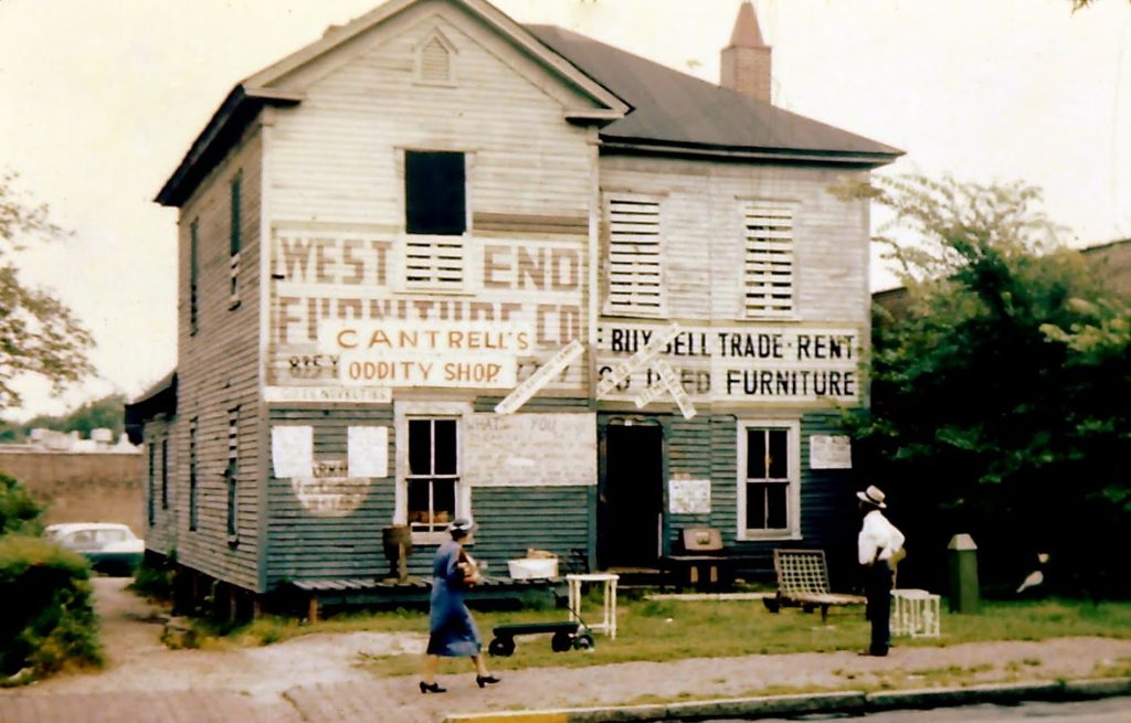 C.E. Cantrell's store next to the post office in West End around 1959.