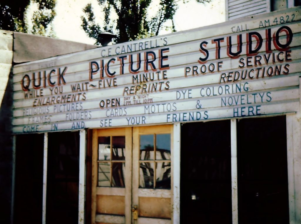 C.E. Cantrell's photography studio mid forties.