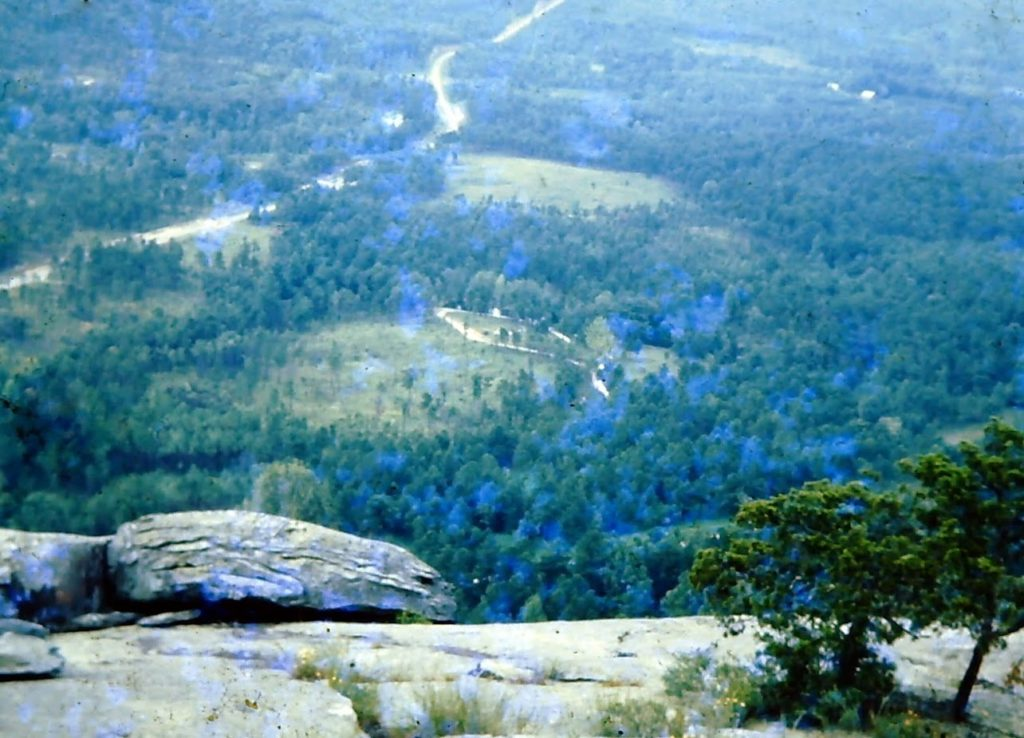 View from the top of Stone Mountain c. 1949
