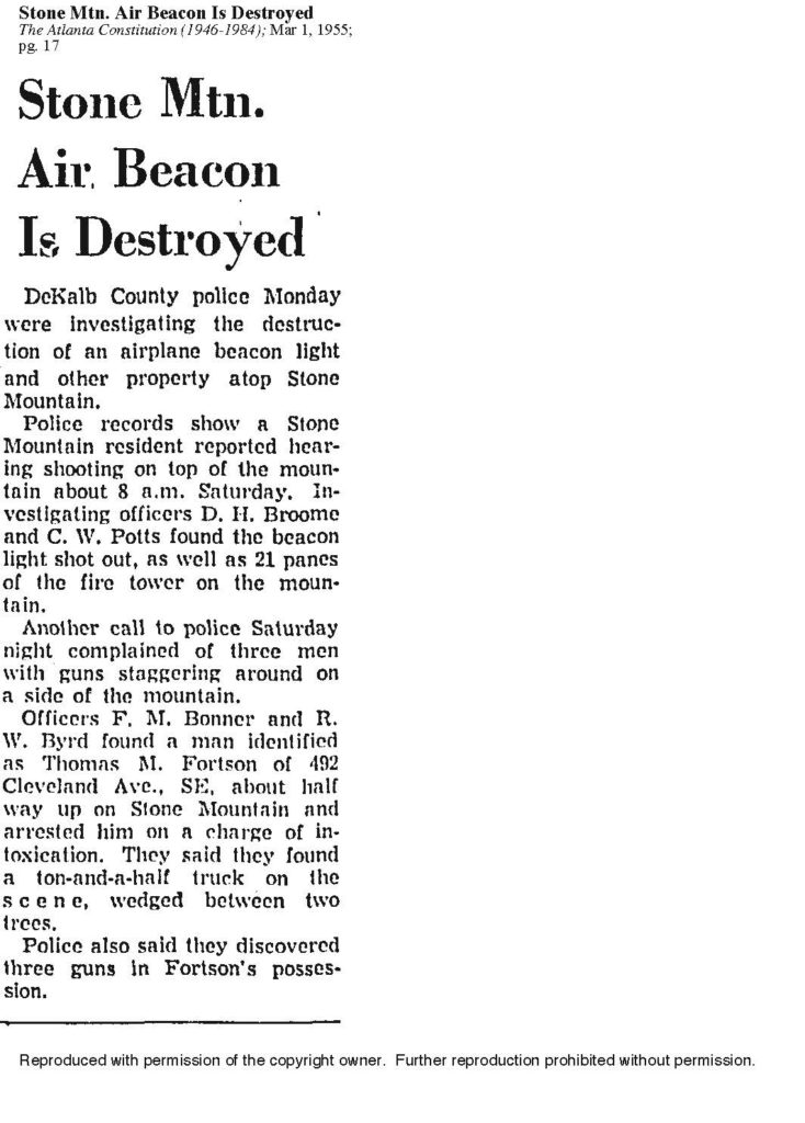 AJC-3-01-1955-Air Beacon Destroyed